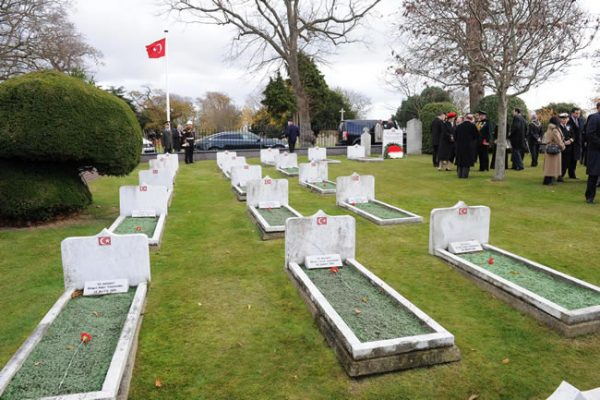 Turkish Naval Cemetery, at the Haslar Royal Naval Cemetery. Photo: Abdullah Gül during 2011 state visit to UK